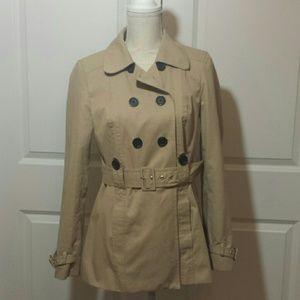 Ann Taylor Loft short trench coat size 4